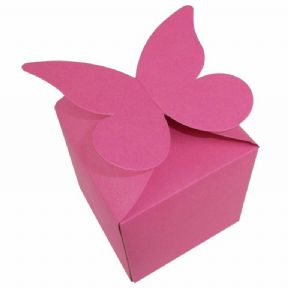 Cerise Large Butterfly Top Muffin / Cupcake Box 80mm x 80mm x 80mm